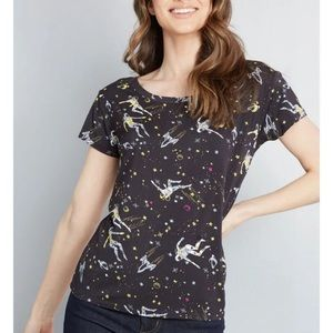 MODCLOTH Instant Hit Relaxed-Fit Astronauts Tee